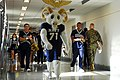 US Navy 081204-N-9858B-047 Members of the U.S. Naval Academy Band parade the halls of the Pentagon in celebration of Army-Navy game.jpg
