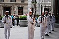 US Navy 090516-N-6557Z-307 Members of the U.S. Navy Ceremonial Guard Drill Team perform for the Mike Huckabee Show at Fox Studios in downtown New York.jpg