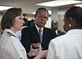 US Navy 110420-N-NY820-170 Jamaican Prime Minister Bruce Golding, center, discusses the capabilities of the Military Sealift Command hospital ship.jpg