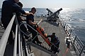US Navy 111102-N-DU438-257 Sailors transport a simulated wounded Sailor on a stretcher during a medical training drill aboard the guided-missile cr.jpg
