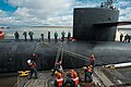 US Navy 111123-N-FG395-133 The Ohio-class ballistic missile submarine USS Tennessee (SSBN 734) arrives returns to homeport at Naval Submarine Base.jpg
