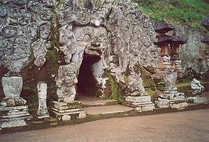 Gua Gajah (sekitar abad XI), salah satu peninggalan masa awal periode Hindu di Bali.
