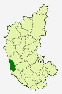 उडुपी का स्थान कर्नाटक में