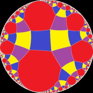 Rhombitetraapeirogonal tiling - Image: Uniform tiling i 222 t 0123