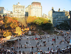 Union Square in autumn.