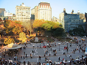 Geography of New York City - Union Square in autumn