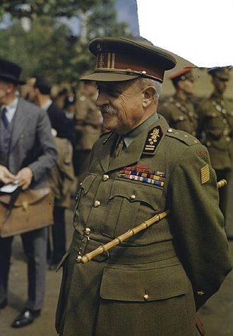 Belgian government in exile - Victor van Strydonck de Burkel in London, 1943. Van Strydonck had been made Baron for leading a cavalry charge in 1918.