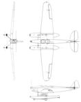 Uppercu-Burnelli Amphibion with Cirrus motor 3-view Aero Digest April,1930.png