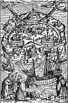 Utopiae Insula, xilografia di A. Holbein per L'Utopia di Tommaso Moro