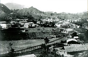 Utuado, Puerto Rico - Utuado in 1896 during the coffee golden era