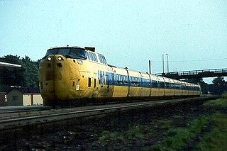 UAC TurboTrain early high-speed, gas turbine train