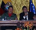 VII Encuentro Presidencial Ecuador-Venezuela. Entrega de créditos no reembolsables, suscripción de convenios y rueda de prensa (4465751969).jpg