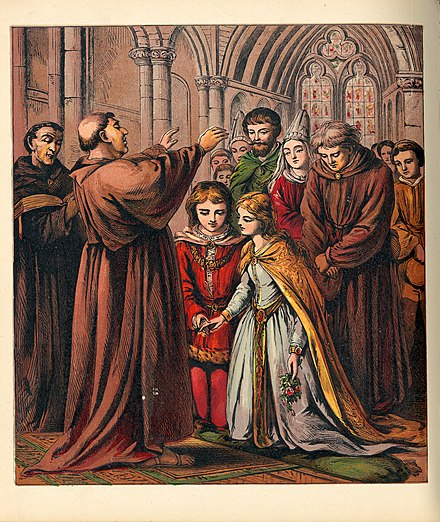Christian child marriage in the Middle Ages Valentine, Laura - Aunt Louisa's Nursery Favourite - 0029.jpg