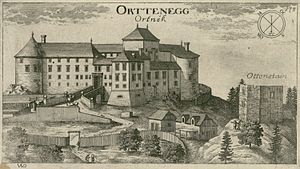 Ortnek Castle - Ortnek Castle in a 1679 engraving by Valvasor