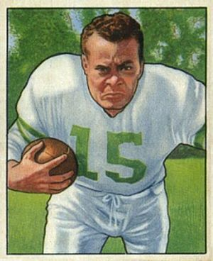Steve Van Buren - Van Buren depicted on a 1950 Bowman trading card