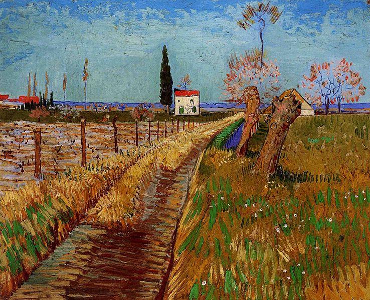 Vicent van Gogh: Camino campestre con sauces (1882).