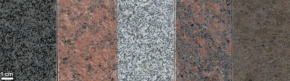 Various granites