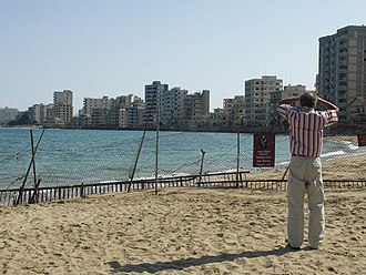 Varosha, Famagusta - Varosha, as seen from outside the military fence