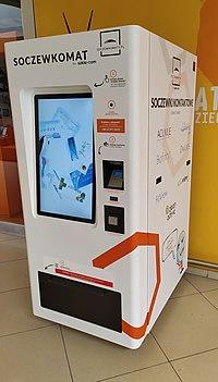 Vending machine with contact lens, Łódź 2020.jpg