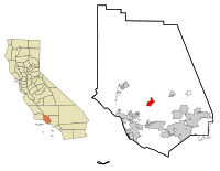 Ventura County California Incorporated and Unincorporated areas Santa Paula Highlighted.svg