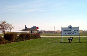 Vermilion Regional Airport - Image: Vermilion County Airport main entrance