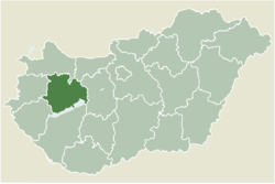 Location of Veszprém County