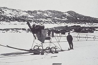 Vickers R.E.P. Type Monoplane - The Vickers R.E.P. in Antarctica as an air tractor.