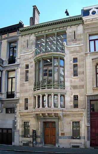 Major town houses of the architect Victor Horta (Brussels) - Image: Victor Horta Hotel Tassel