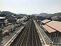 View from overpass of Mukainoharu Station (west).jpg