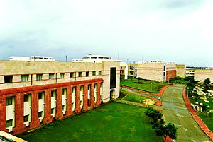 Birla Institute of Technology and Science, Pilani – Hyderabad Campus - This is the area right in front of the Academic Block