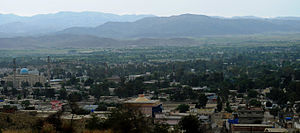 English: A view of Khost, Afghanistan in April...