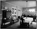 View of dining room - Sears House, 958 Route 23, Wayne, Passaic County, NJ HABS NJ,16-WAYN,3-5.tif