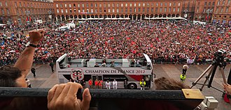 2011–12 Top 14 season - Image: View on place du Capitole from the balcony of the Capitole 2012 06 10