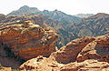 View to other summit outcrop from View to the End of the World, Petra.jpg