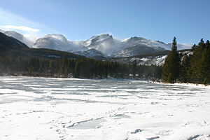 Sprague Lake (Colorado) - Winter view (December 2008)