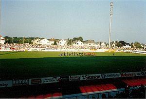 Stavanger Stadion - Stavanger Stadion in 1991, seen from the west stand