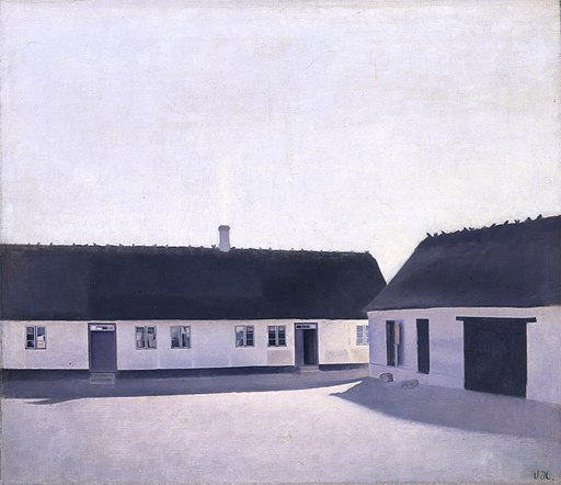 Vilhelm Hammershøi, Fra en bondegård, Refsnæs, 1900, B 306, Davids Samling