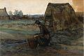 Vincent van Gogh - Paysanne Agenouillee Devant une Cabane (1883).jpg