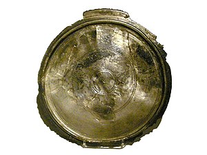 Vindobona - Silver plate, part of a larger find found around Kärntner Straße in 1945