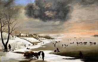 Christian David Gebauer - Winter Landscape near Brabrand Church