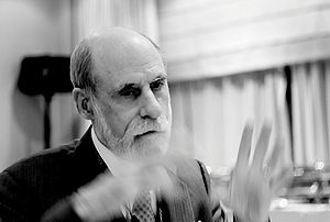 w:Vint Cerf at an w:ICANN meeting, Lisboa 2007