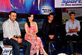 Virender Sehwag, Dia Mirza, Bhaichung Bhutia, Milind Soman at the NDTV Marks for Sports event 05.jpg