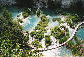 Protected areas of Croatia - Image: Visite randonnee Plitvice