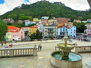 Sintra - A view of Sintra's historical centre