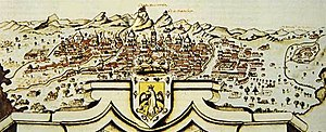 Timeline of Bogotá - Panoramic view of Bogotá 1772