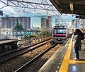 Visually impaired person on train platform in Japan - Dec 2016.jpg