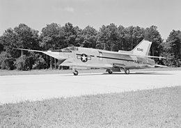 Vought XF8U-3 at Wallops Island 1959.jpeg