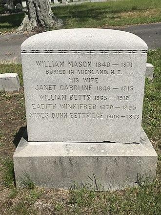 W.B. Mason - Mason family grave at Union Cemetery in Brockton, MA.