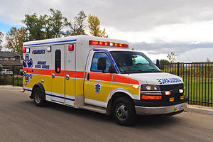 Crestline Coach - 2014 Crestline FleetMax Type III ambulance (Chevy Chassis) used by the Winnipeg Fire Paramedic Service