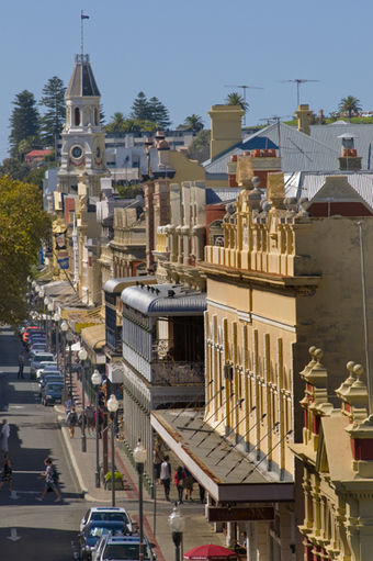 Fremantle is known for its well-preserved architectural heritage. WTF Roel Loopers High Street from above, Fremantle.jpg